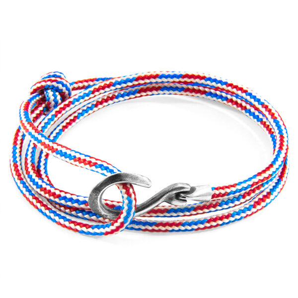 Project-RWB Red White and Blue Heysham Silver and Rope Bracelet