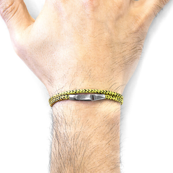Yellow Noir Liverpool Silver and Rope Bracelet