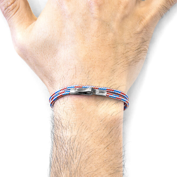 Project-RWB Red White and Blue Liverpool Silver and Rope Bracelet