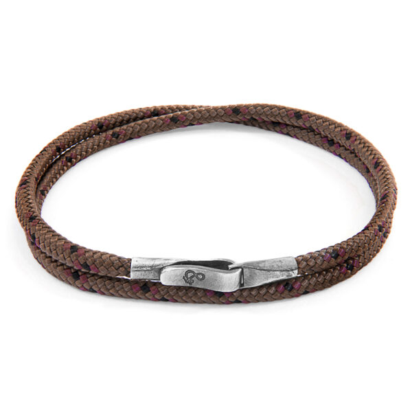 Brown Liverpool Silver and Rope Bracelet