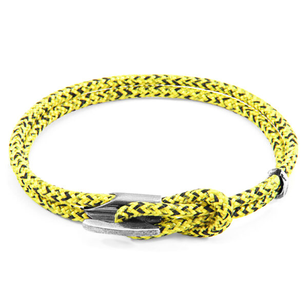 Yellow Noir Padstow Silver and Rope Bracelet