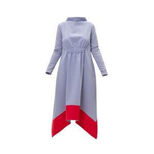Light Blue Midi Dress Long Sleeves